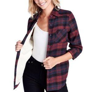 HP! Sherpa Lined Plaid Shirt/Jacket